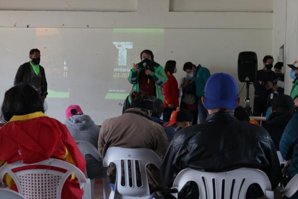 Inician mesas de concertación del POT con habitantes de Mochuelo