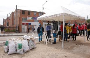 La comunidad de Bosa participó activamente en Juntos Limpiamos Bogotá
