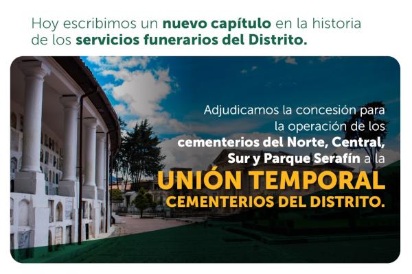 Nuevo concesionario para la operación de los cementerios distritales de Bogotá